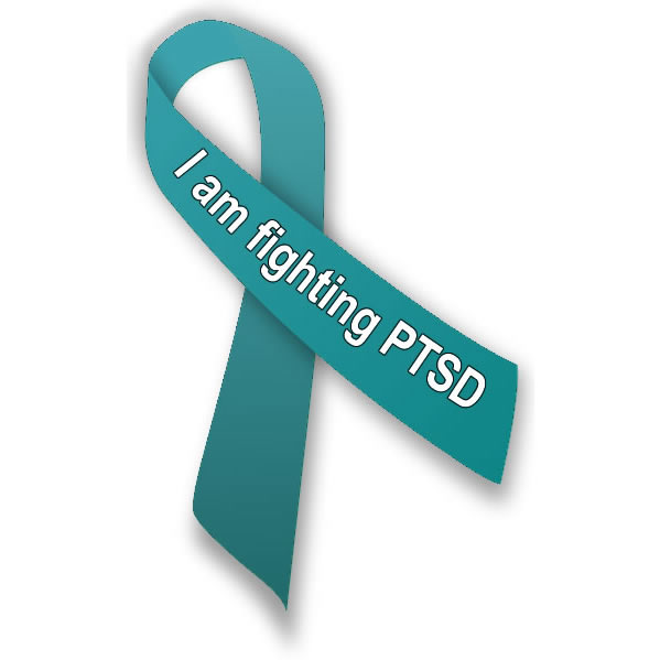 I am fighting PTSD ribbon by traumadissociation.com