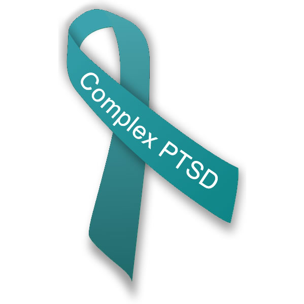 Complex PTSD Awareness Ribbon by traumadissociation.com