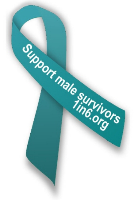 Support male survivors ribbon by traumadissociation.com