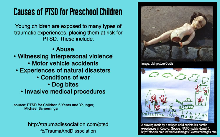 Causes of PTSD in preschool children