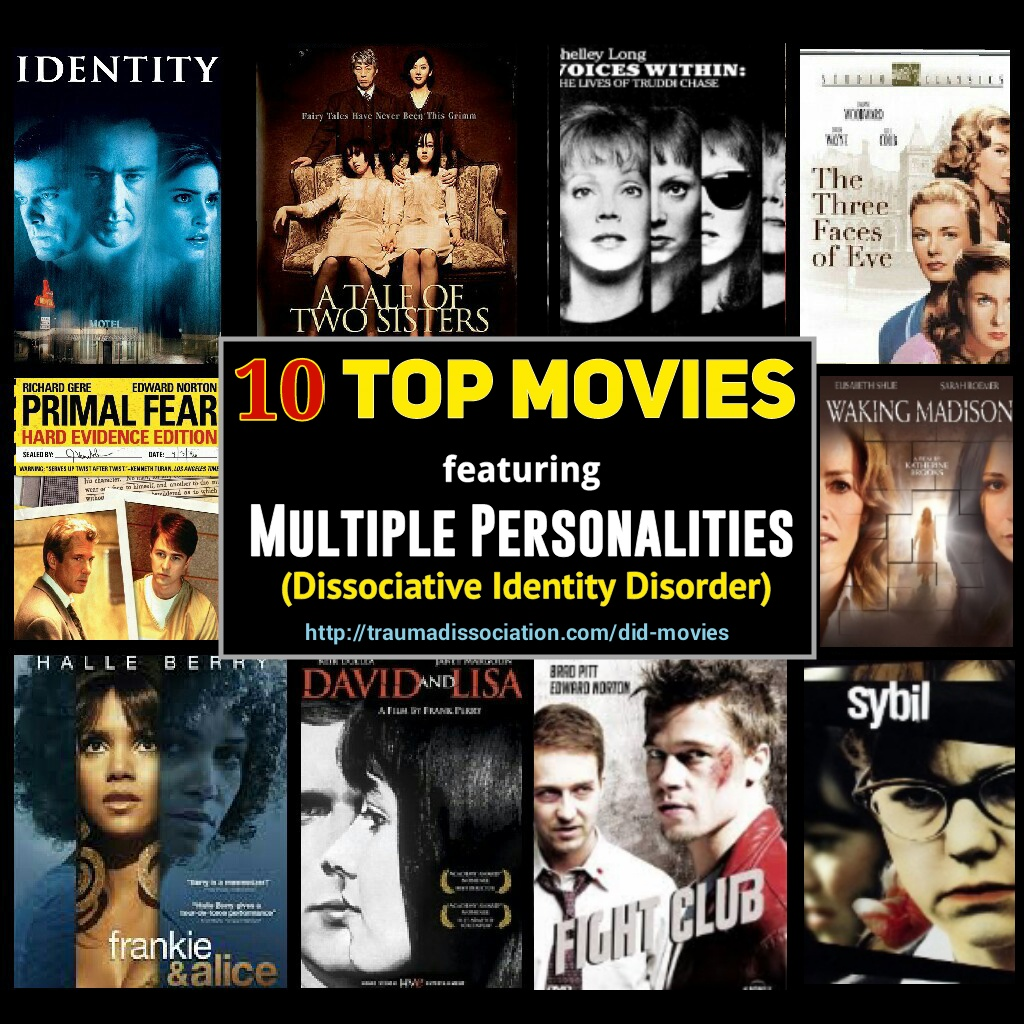 10 Top Movies featuring Multiple Personalities (Dissociative Identity  Disorder)