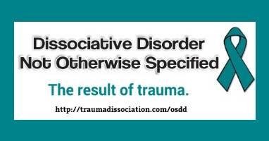 other specified dissociative disorder and ddnos types criteria and
