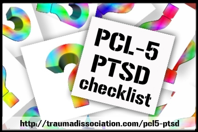 PCL-5 PTSD Checklist Questionnaire - screen yourself for PTSD