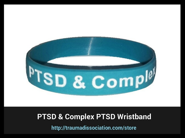 Posttraumatic Stress Disorder and Complex PTSD awareness wristbands for sale - teal silicone wristband