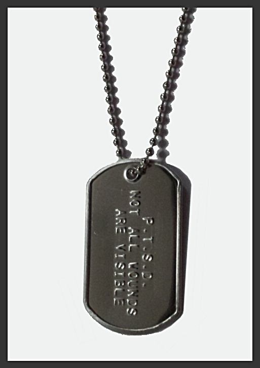 PTSD awareness dog tag style necklace for sale