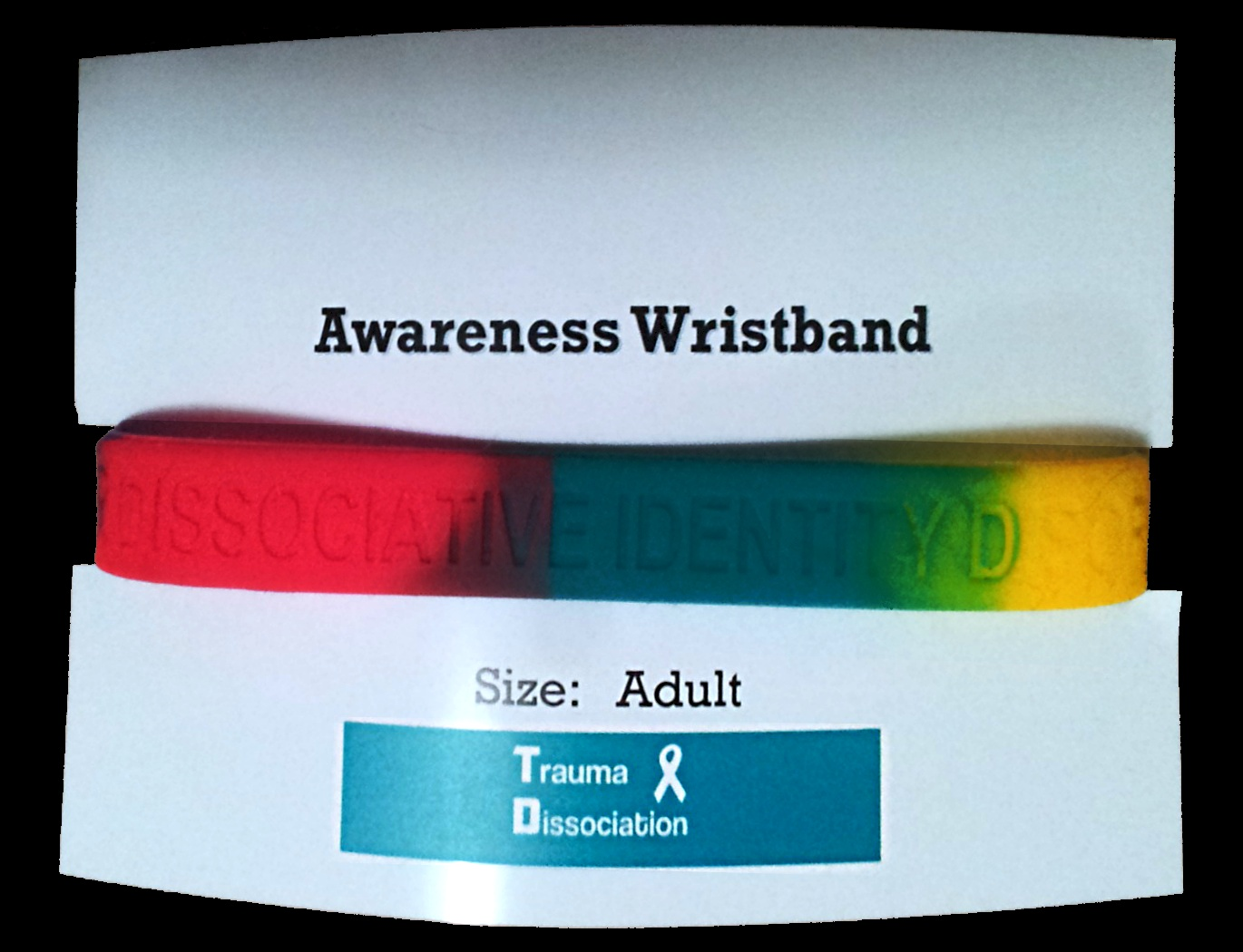Dissociative Identity Disorder awareness wristband - MPD